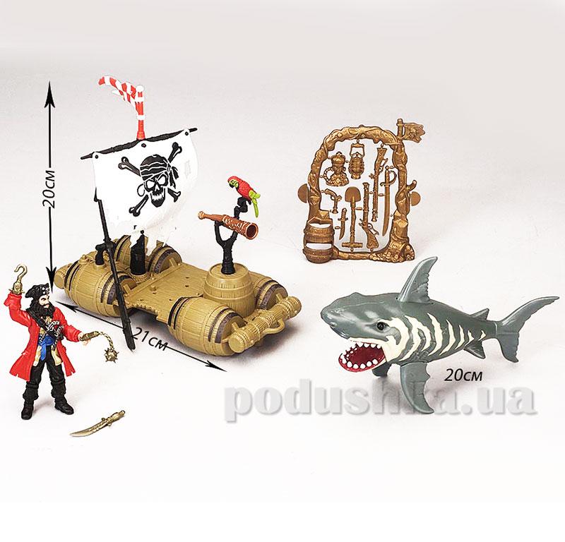 Детский игровой набор 3 Пират и лодка Chap Mei 505103