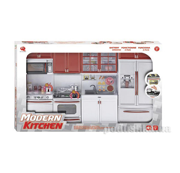 Детский игровой набор Кухня в красном цвете Qun Feng Toys 26211   Qun Feng Toys