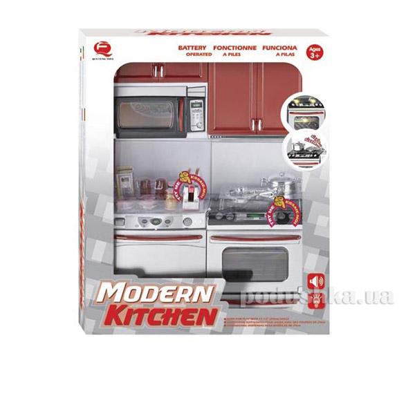 Детский игровой набор Кухня в красном цвете Qun Feng Toys 26213   Qun Feng Toys
