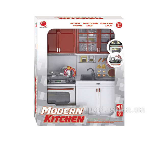 Детский игровой набор Кухня в красном цвете Qun Feng Toys 26214   Qun Feng Toys