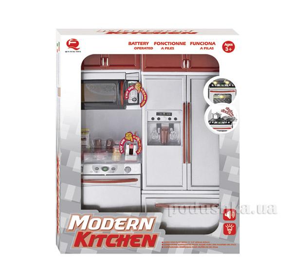 Детский игровой набор Кухня в красном цвете Qun Feng Toys 26215   Qun Feng Toys