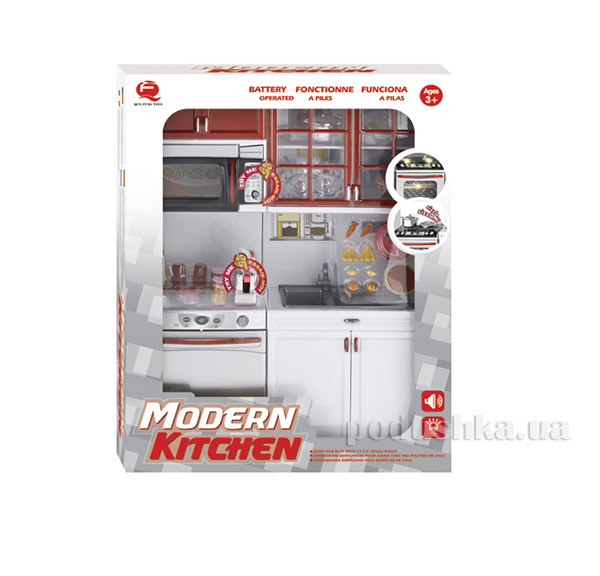Детский игровой набор Кухня в красном цвете Qun Feng Toys 26216   Qun Feng Toys