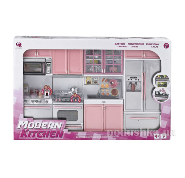 Детский игровой набор Кухня в розовом цвете Qun Feng Toys 26211P
