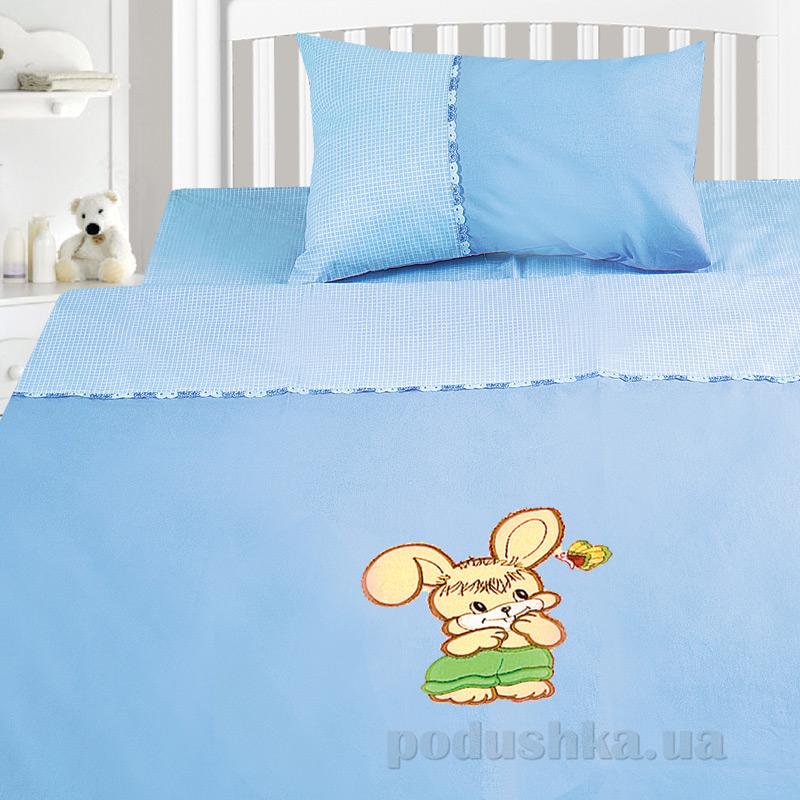Детский комплект постельного белья бязь с вышивкой Ярослав dv18z