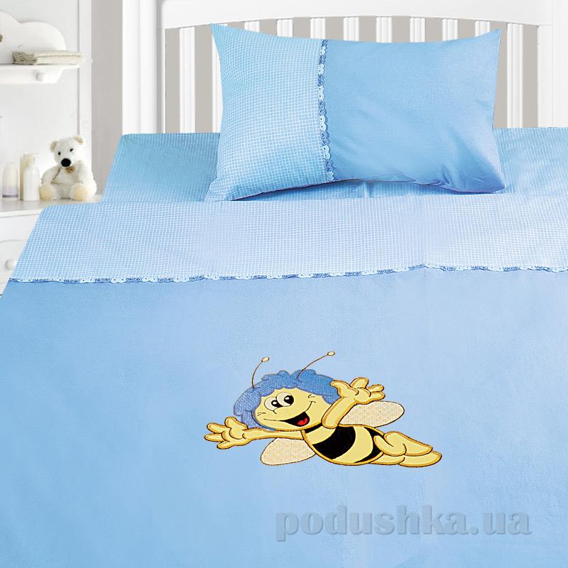 Детский комплект постельного белья бязь с вышивкой Ярослав dv19p