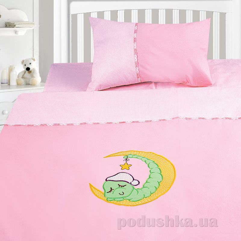 Детский комплект постельного белья бязь с вышивкой Ярослав dv25b