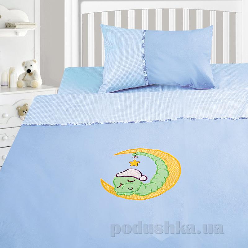 Детский комплект постельного белья бязь с вышивкой Ярослав dv25c