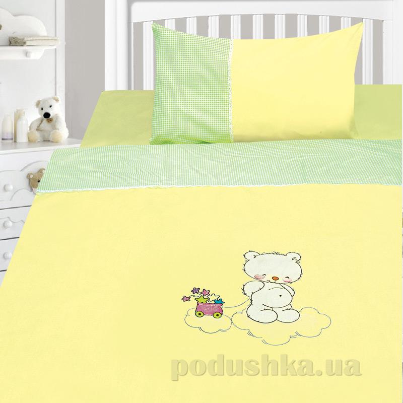 Детский комплект постельного белья бязь с вышивкой Ярослав dv31o