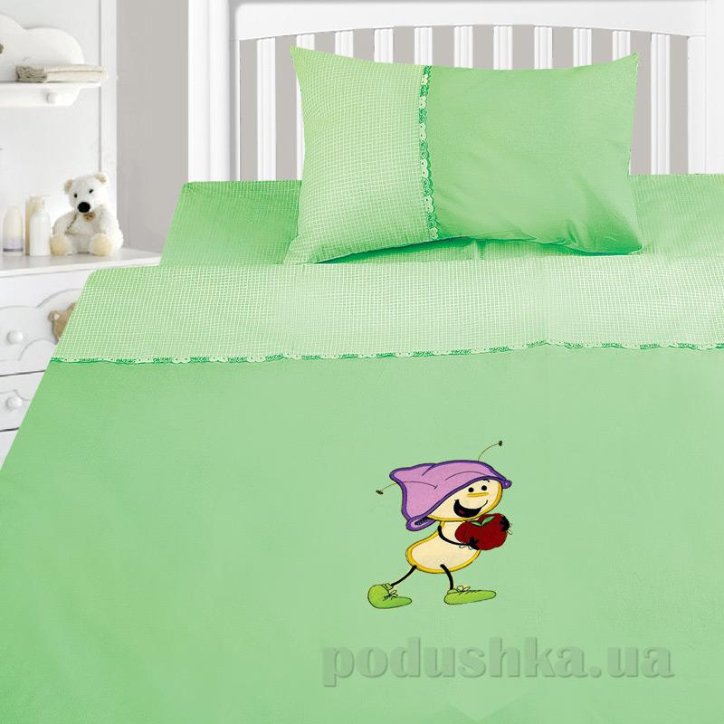 Детский комплект постельного белья бязь с вышивкой Ярослав dv37j