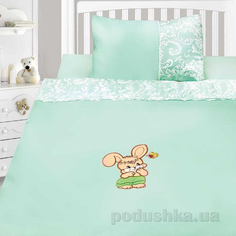 Детский комплект постельного белья сатин с вышивкой Ярослав v45k