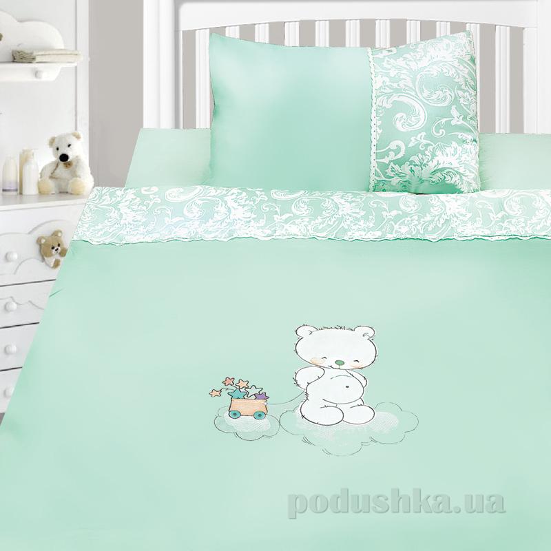 Детский комплект постельного белья сатин с вышивкой Ярослав v45n