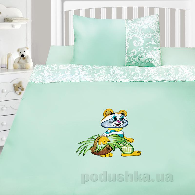Детский комплект постельного белья сатин с вышивкой Ярослав v50r