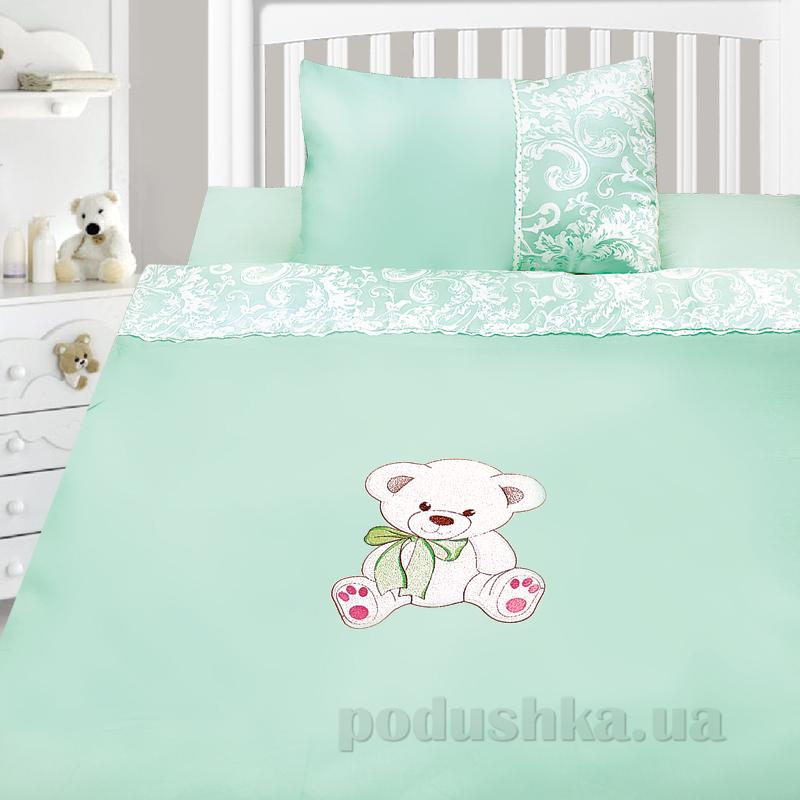 Детский комплект постельного белья сатин с вышивкой Ярослав v52m