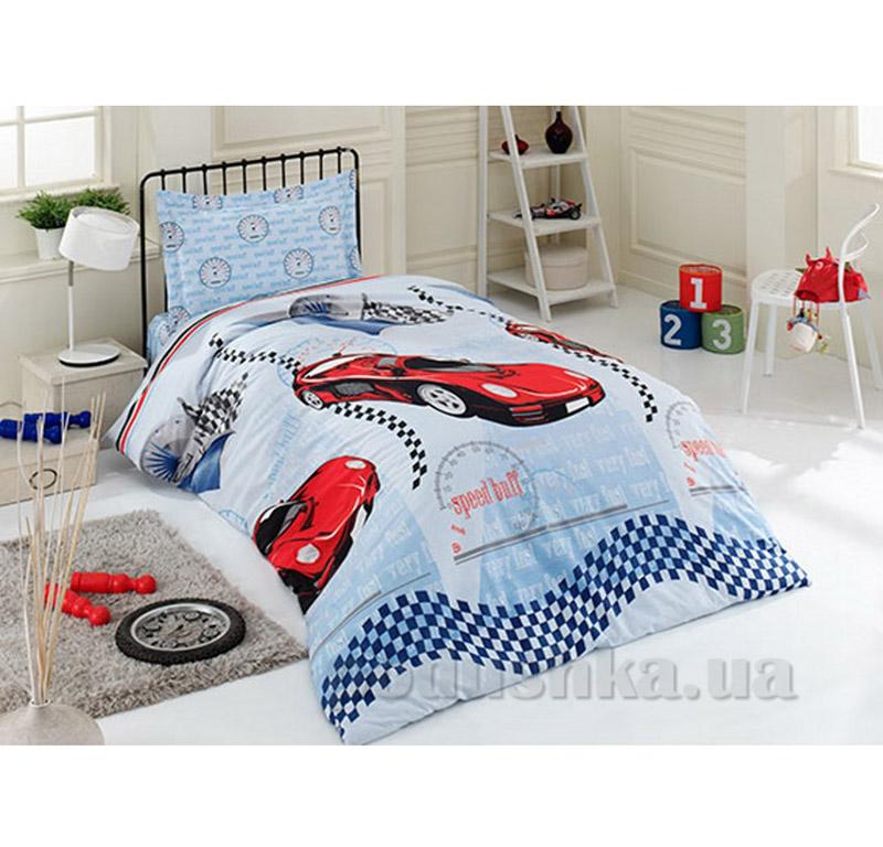 Детский комплект постельного белья в коробке Arya 1001468 машинки ранфорс