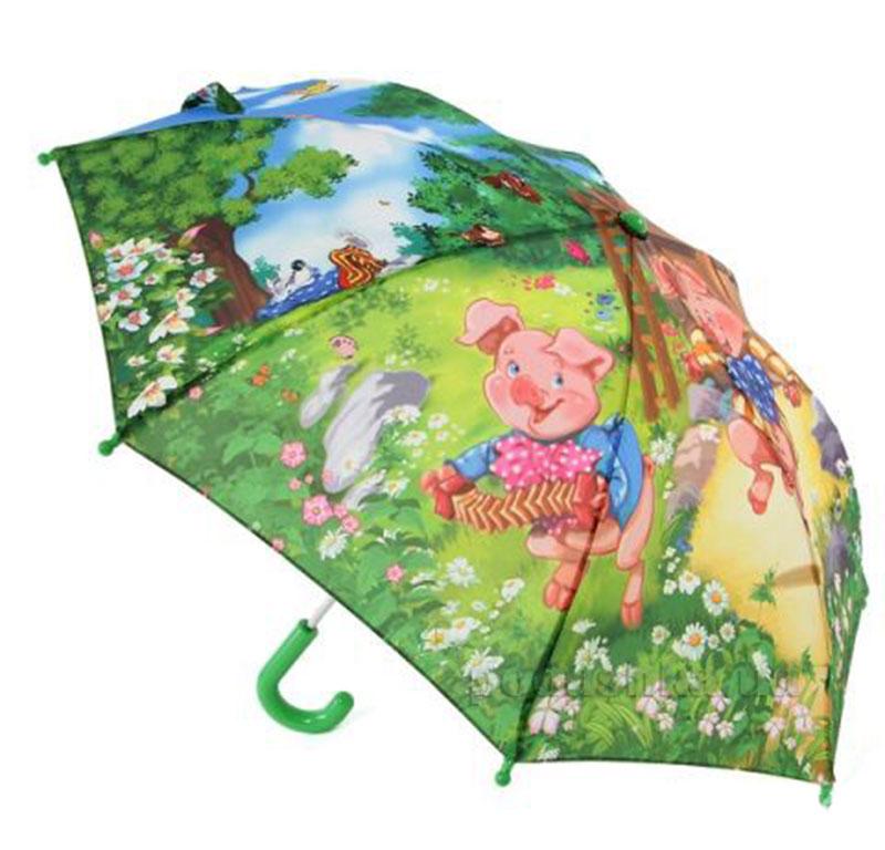 Детский механический зонтик Zest Три поросенка 21565