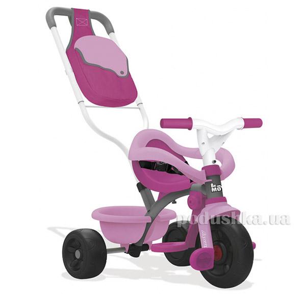 Детский металлический велосипед с багажником малиновый Smoby 740403   Smoby