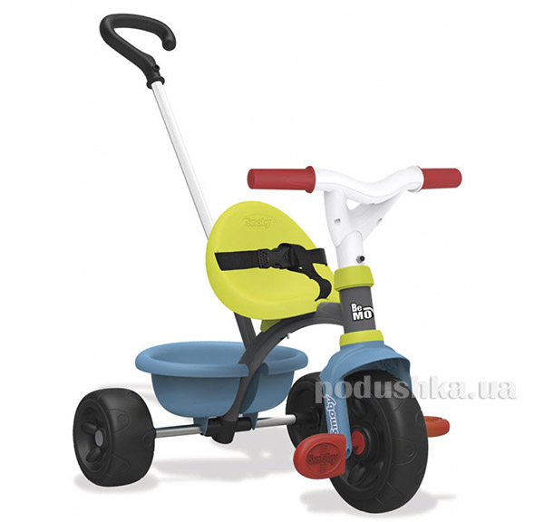 Детский металлический велосипед с багажником зелено-голубой Smoby 740314   Smoby