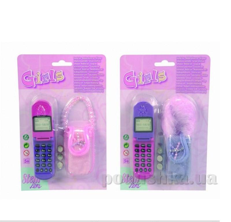 Детский мобильный телефон с сумочкой 2 вида Simba