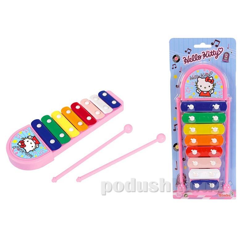 Детский музыкальный инструмент Ксилофон Hello Kitty