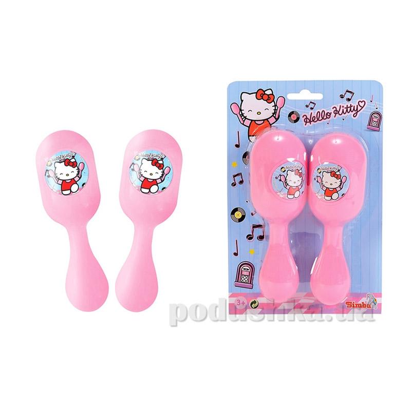 Детский музыкальный инструмент Маракасы Hello Kitty