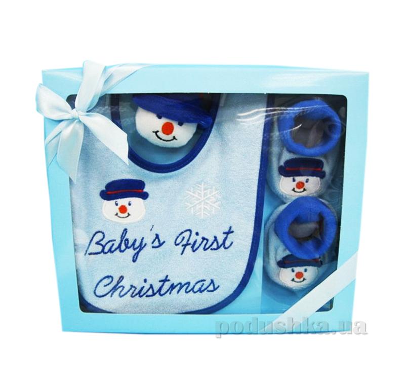 Детский набор для Нового года Снеговичек AKT-BIB/97SET