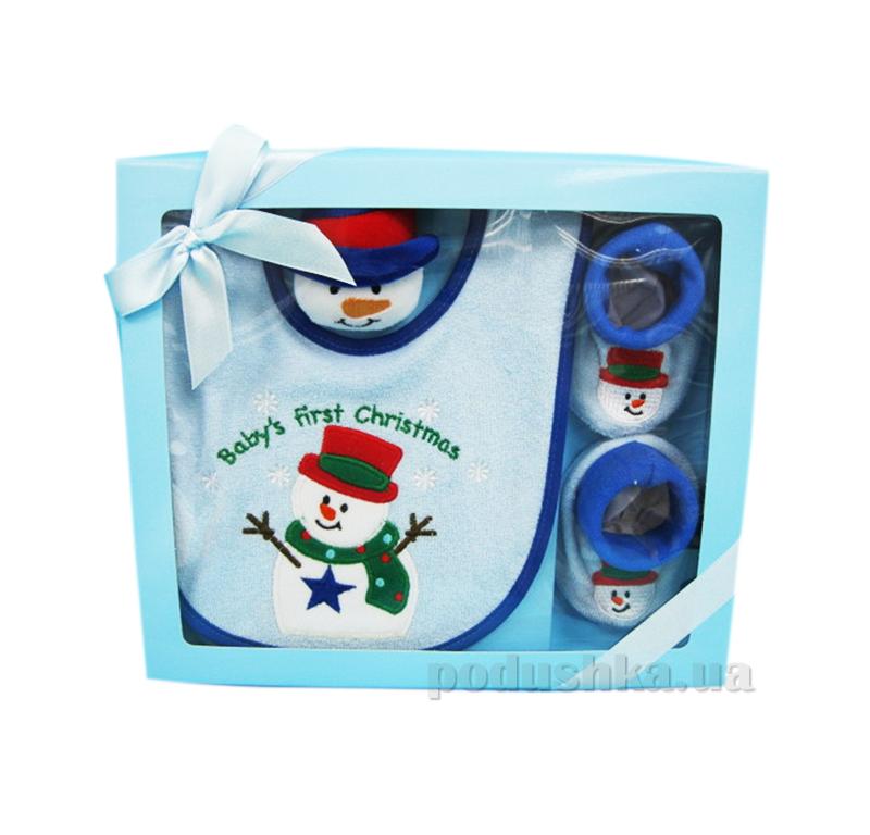 Детский набор для Нового года Снеговик AKT-BIB/1470SET