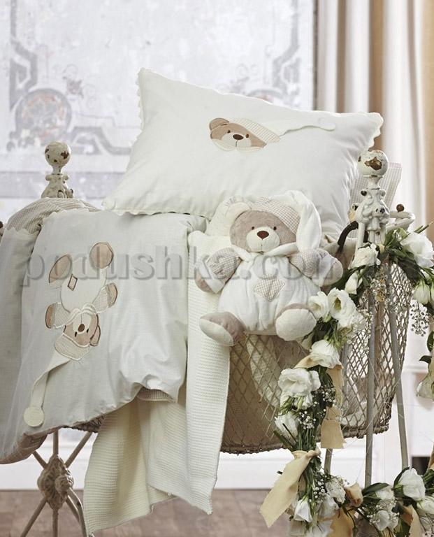 Детский набор Karaca Bear кремовый - постельное бельё, плед, игрушка