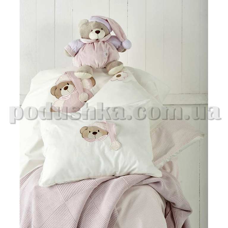 Детский набор Karaca Bear розовый - постельное бельё, плед, игрушка