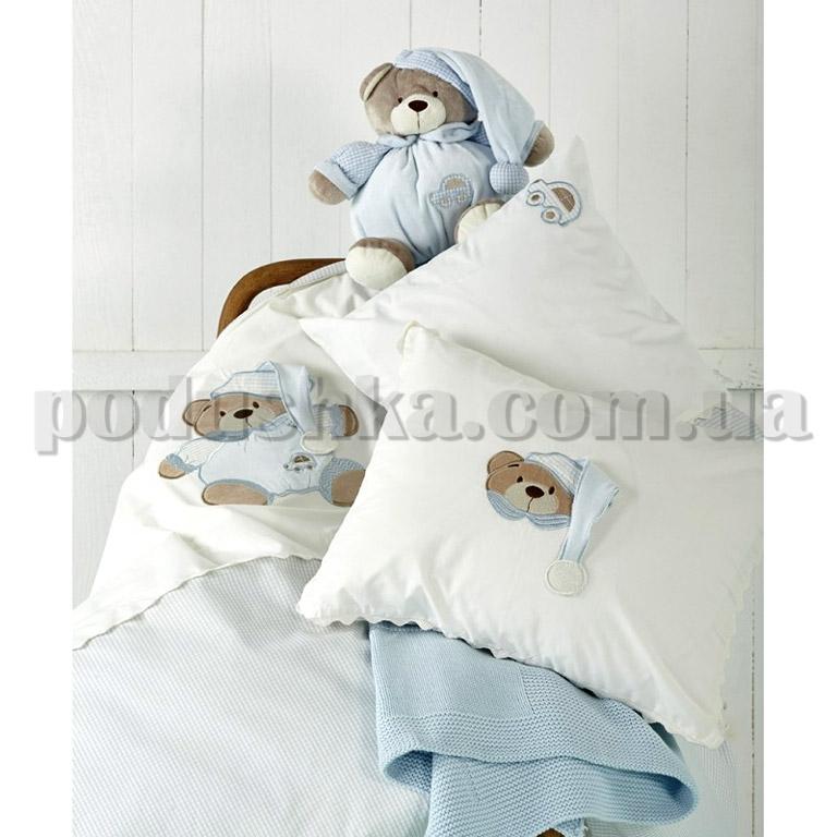 Детский набор Karaca Bear голубой - постельное бельё, плед, игрушка