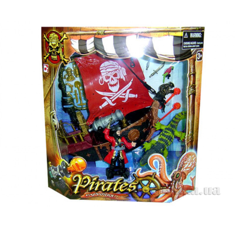 Детский набор Пираты 3 с фрегатом Chap Mei 505105