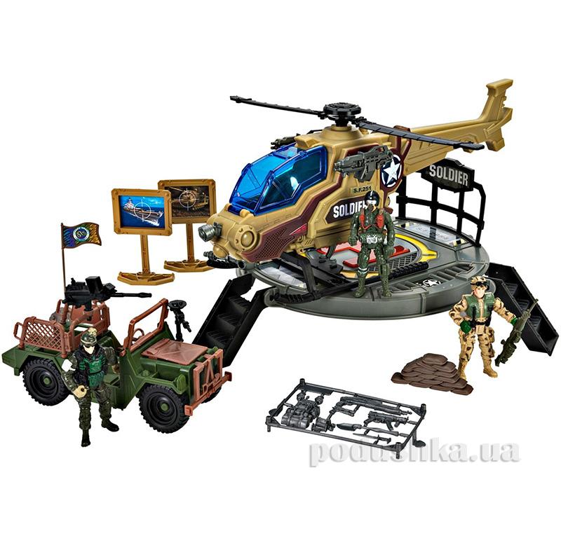Детский набор Солдаты 7 с вертолетом Chap Mei 506252
