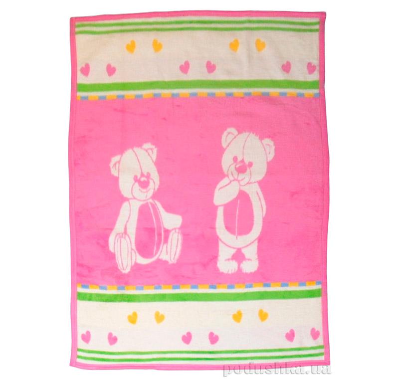 Детский плед Розовый медвежонок, Sesli