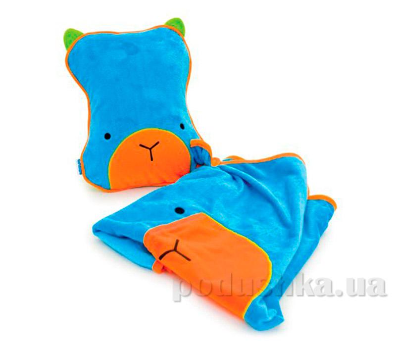 Детский плед с подушкой Trunki Snoozihedz Blue TRUA-0073