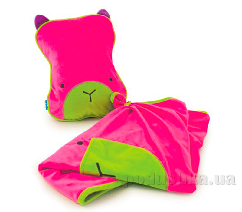 Детский плед с подушкой Trunki Snoozihedz Pink TRUA-0074