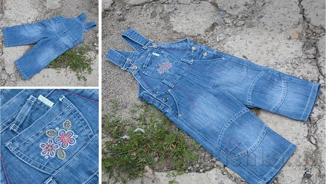 Детский полукомбинезон Бемби ПК52 джинс