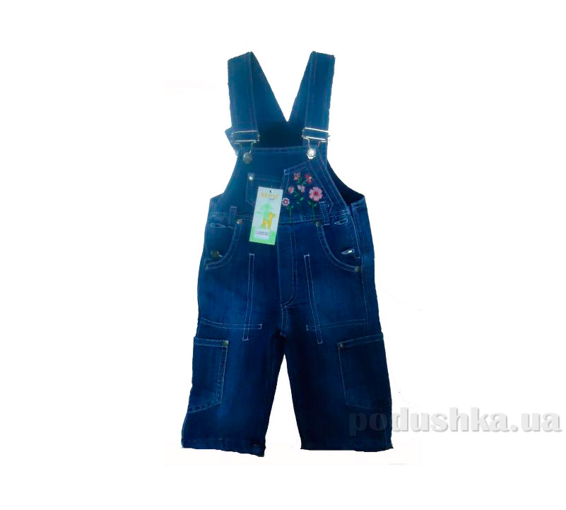 Детский полукомбинезон на флисе Бемби ПК10 джинс