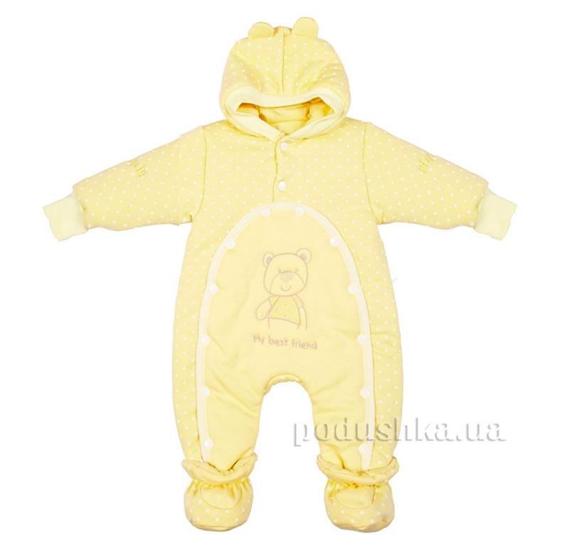 Детский утепленный комбинезон Друг Happy ToT 552 желтый