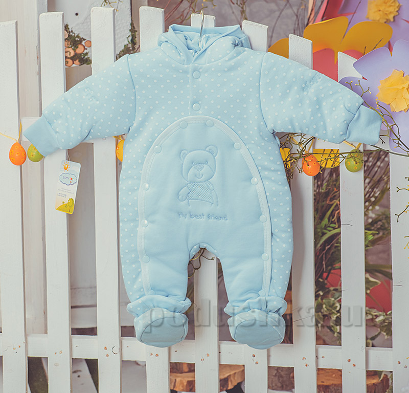 Детский утепленный комбинезон Друг Happy ToT  552 голубой