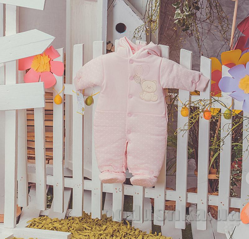 Детский утепленный комбинезон Друг Happy ToT 552 розовый