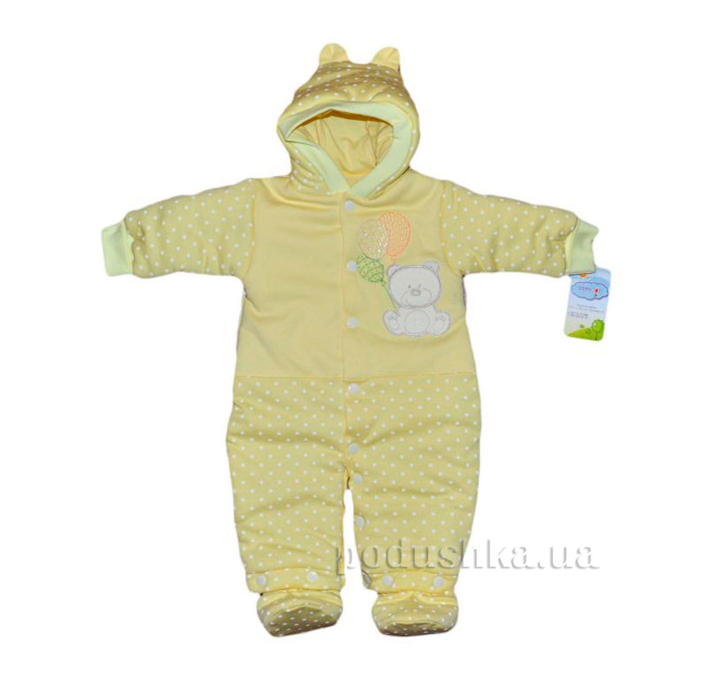 Детский утепленный комбинезон Happy ToT 663 желтый