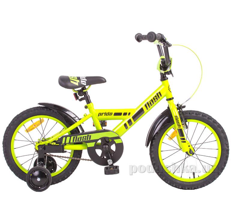 Детский велосипед Pride Flash 2014 зелено-черный