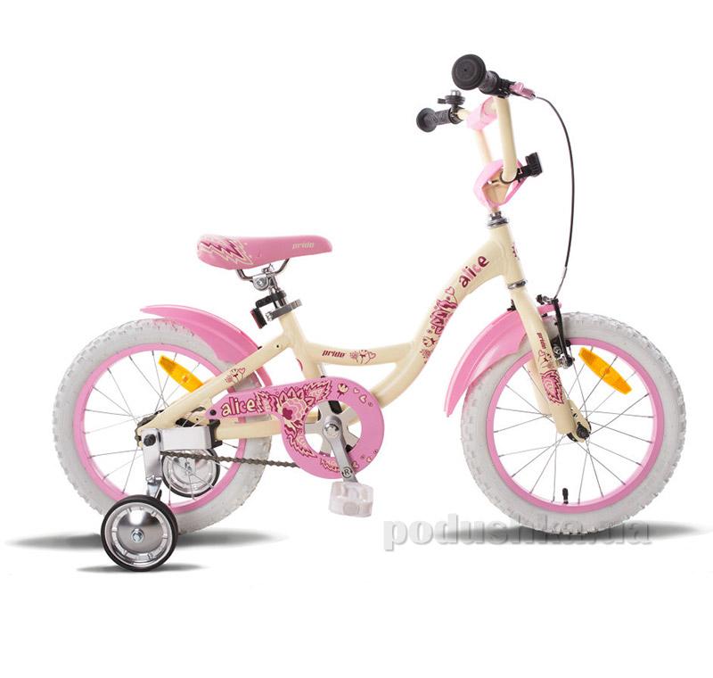 Детский велосипед  Pride Alice 2015SKD-13-23 бежево-розовый
