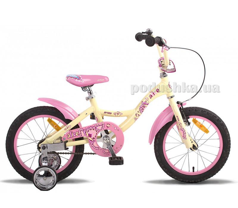Детский велосипед Pride Alice 2014 бежевый матовый