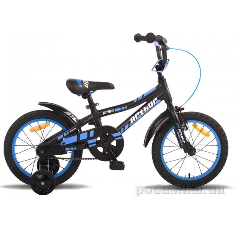 Детский велосипед Pride Arthur 2015 SKD-56-63 черно-синий