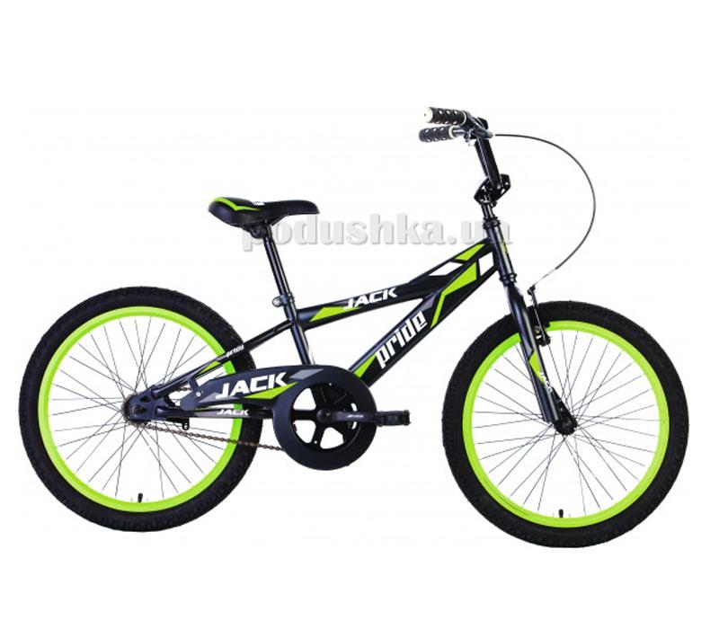 Детский велосипед Pride Jack 2014 черно-зеленый матовый