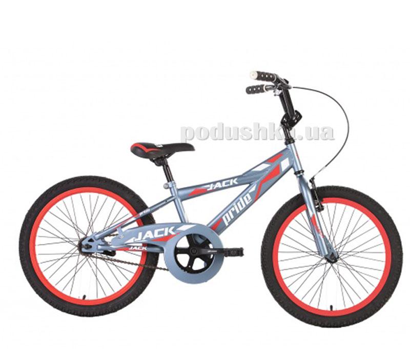 Детский велосипед Pride Jack 2014 серо-красный матовый