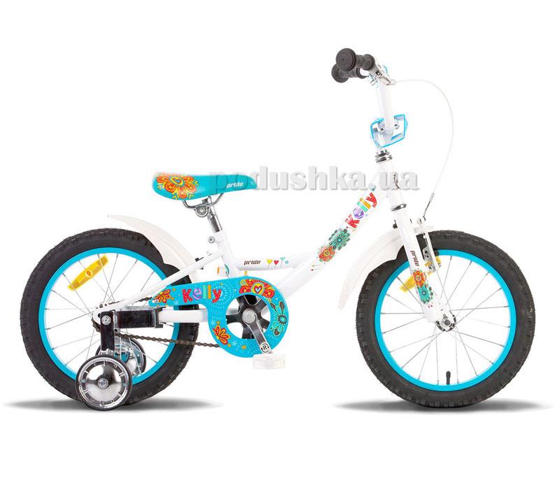 Детский велосипед Pride Kelly 2014 бело-синий