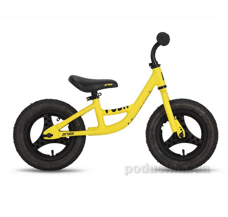 Детский велосипед Pride Push 2015 желто-черный