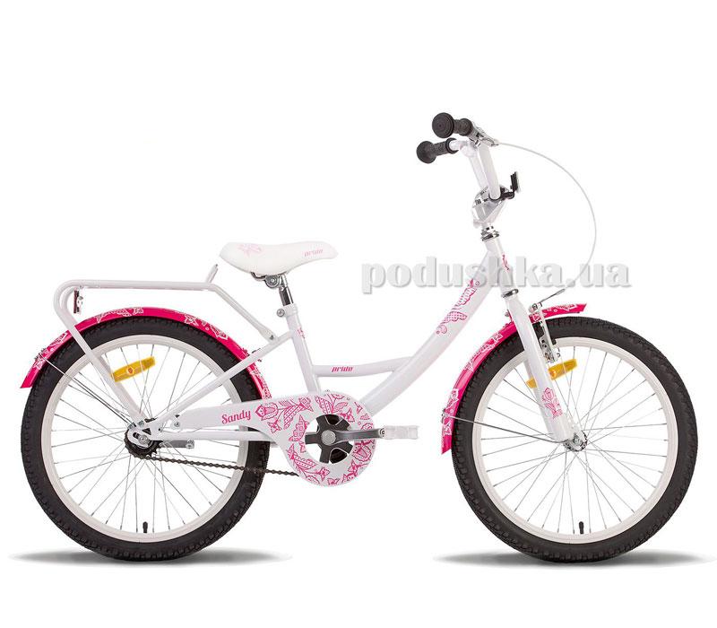 Детский велосипед Pride Sandy 2014 бело-розовый