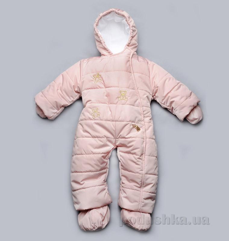 Детский зимний комбинезон Модный Карапуз 03-00411 розовый
